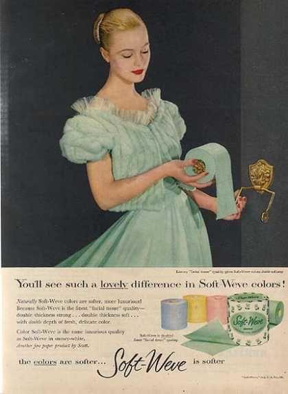 Publicité toilettes : Soft-Weve Toilet Paper