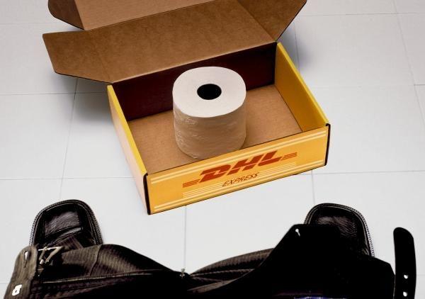 Publicité toilettes : DHL