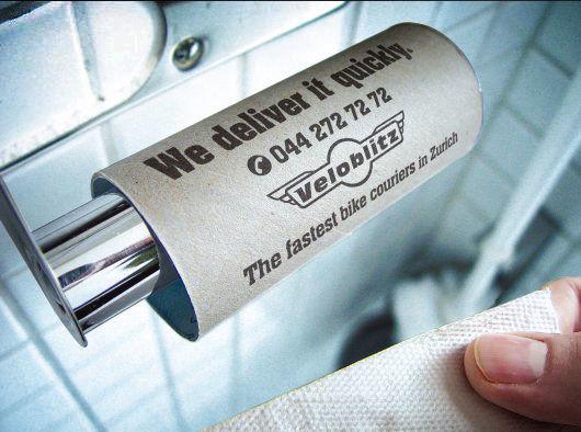 Publicité toilettes : Veloblitz
