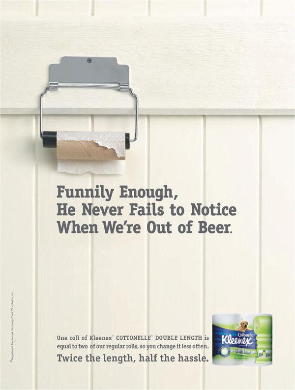 Publicité toilettes : Kleenex