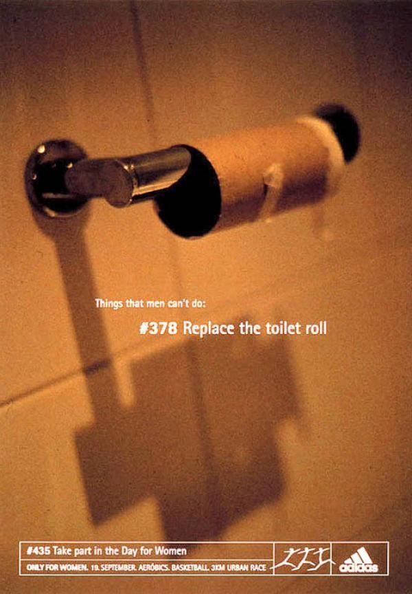 Publicité toilettes : ADIDAS
