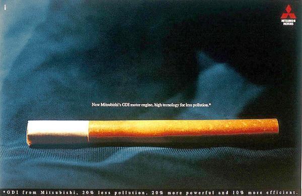 publicité cigarette Mitsubishi