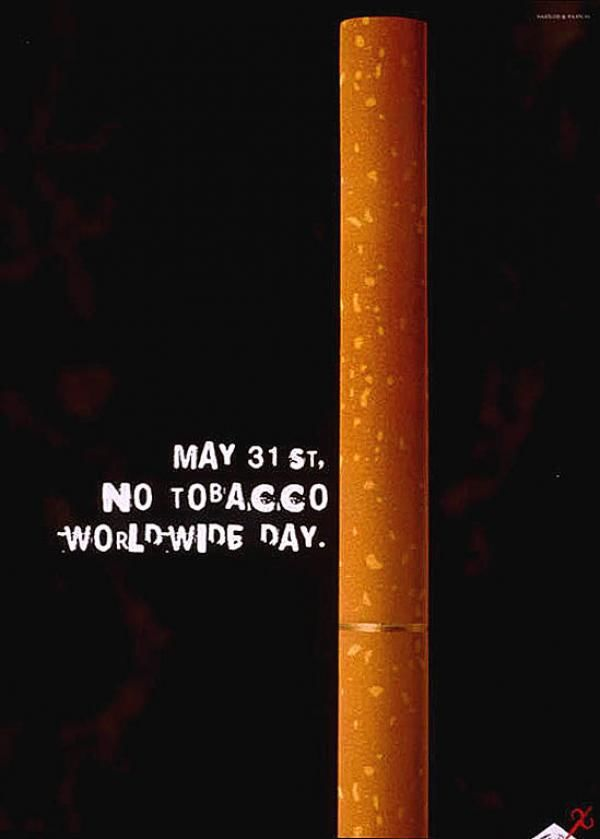 publicité cigarette No Tobacco World Wide Day