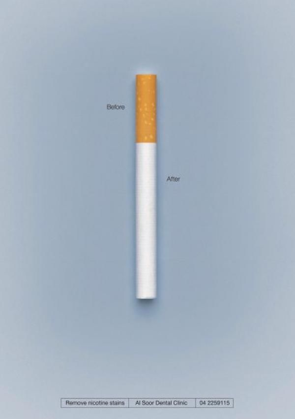 publicité cigarette Al Soor Dental Clinic