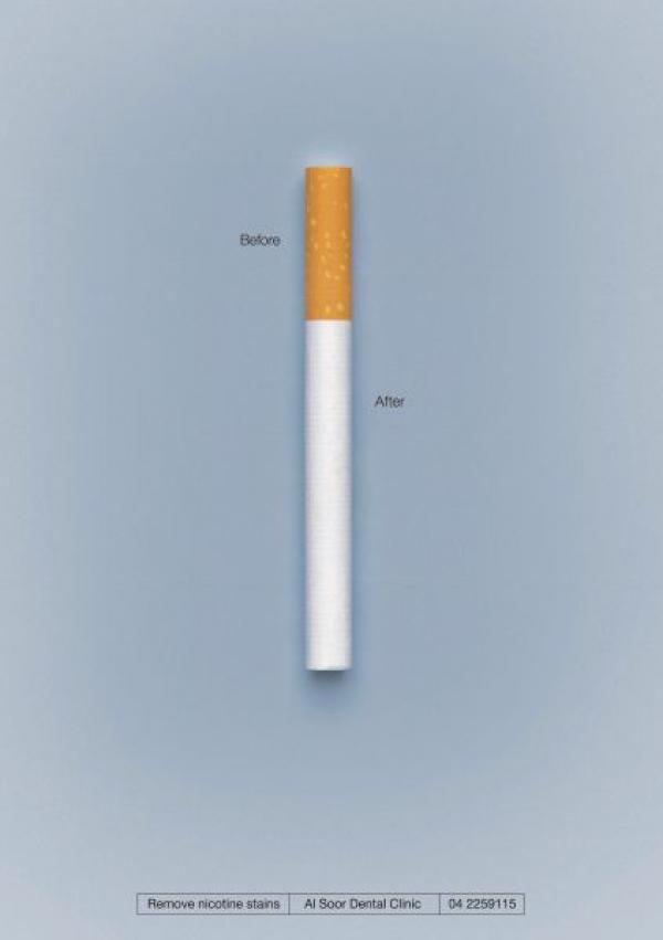 publicité cigarette Al Soor Dental Clinic