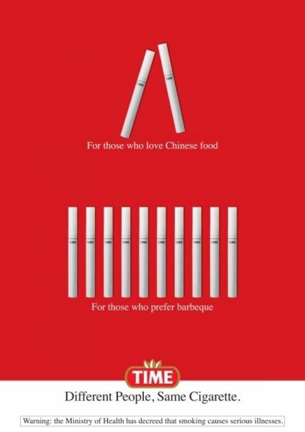 publicité cigarette Time