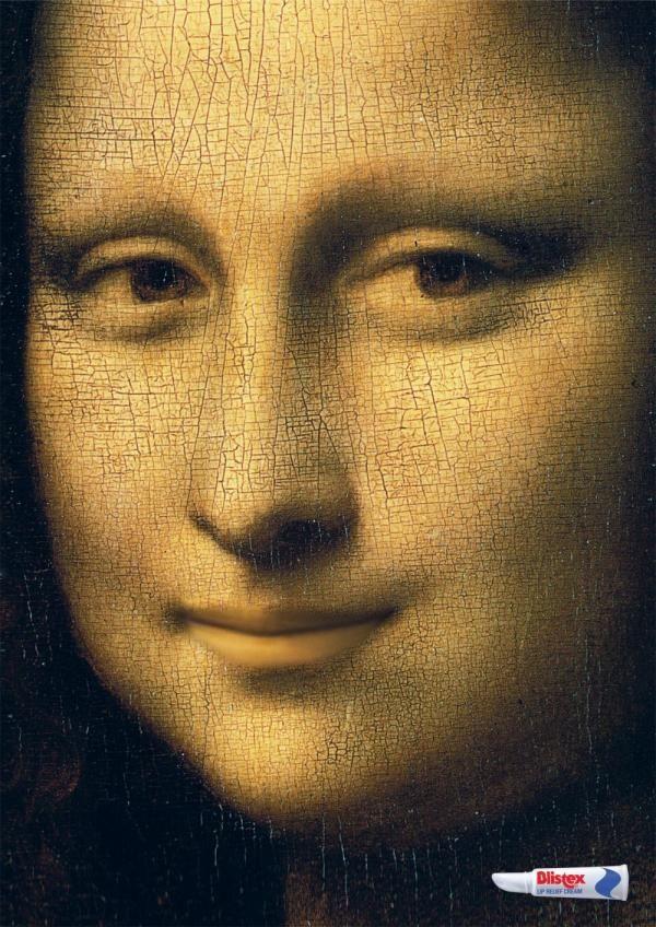 Publicité Mona Lisa Blistex