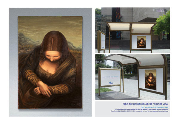 Publicité Mona Lisa Head and Shoulder