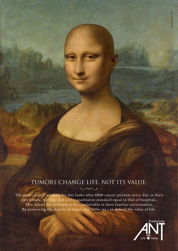 Publicité Mona Lisa Fondation ANT