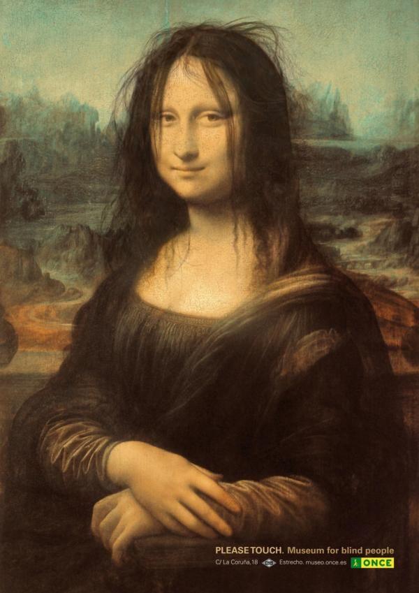 Publicité Mona Lisa Musée pour les aveugles