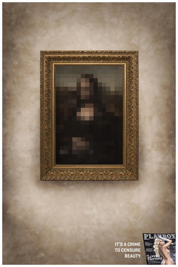 Publicité Mona Lisa Playboy