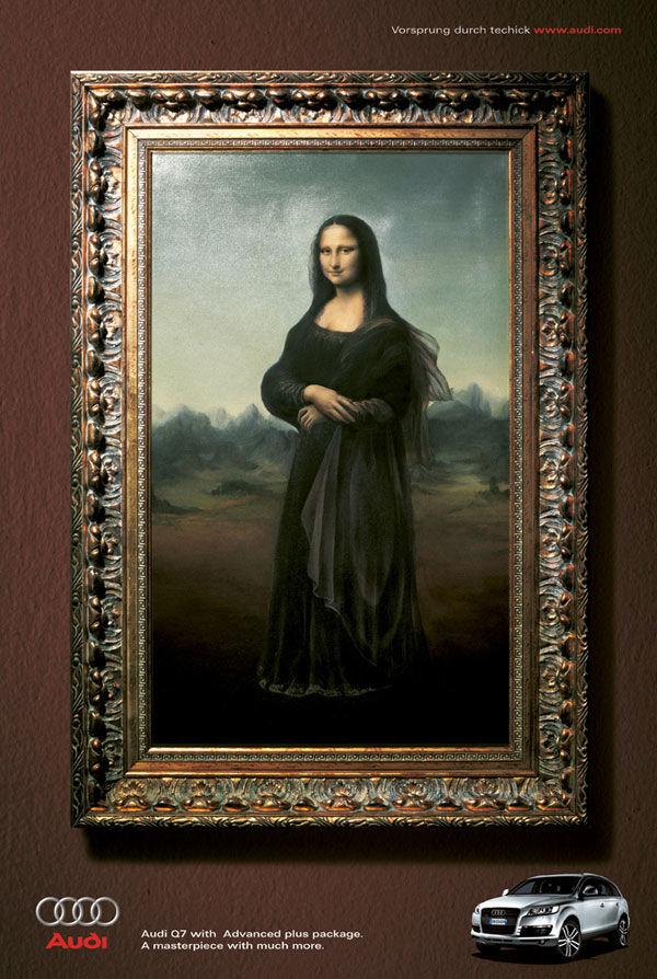 Publicité Mona Lisa