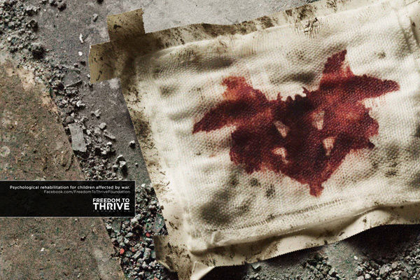 publicité Rorschach Freedom to Thrive Foundation