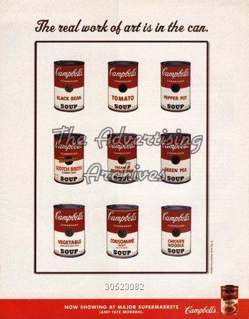 publicité campbell's soup