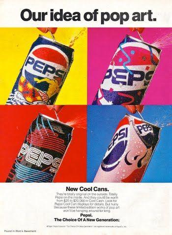 publicité pop art pepsi