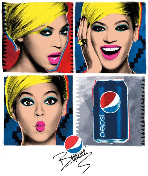 publicité pop art pepsi Rihanna
