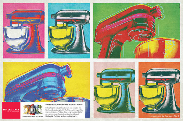 publicité pop art Kitchenaid