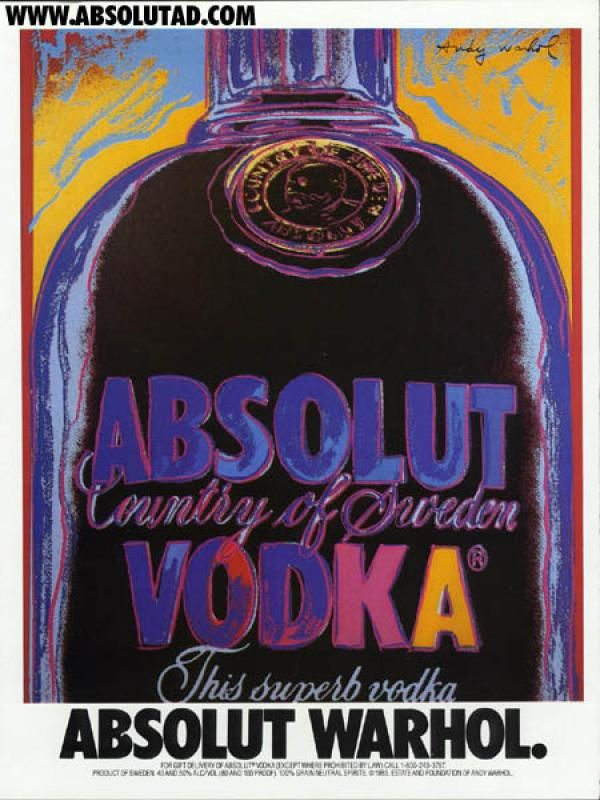 publicité pop art Absolut Vokda
