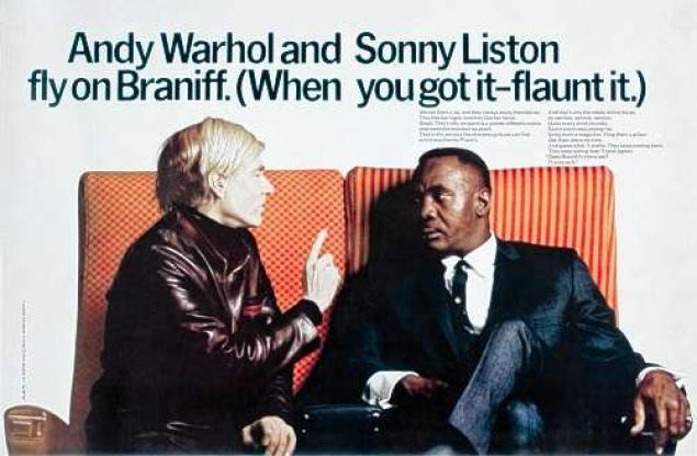 publicité pop art Warhol Braniff
