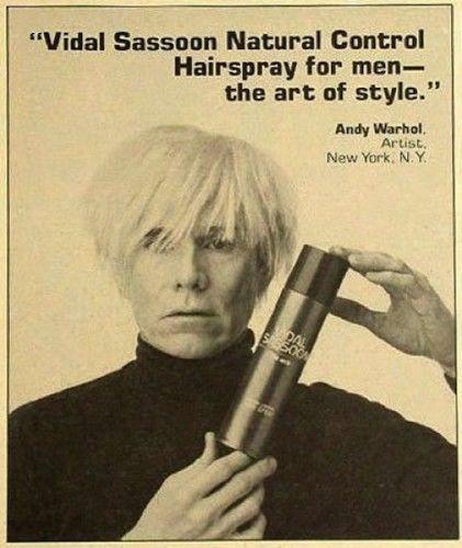 publicité Warhol sassoon