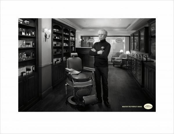 publicité Warhol The art of shaving