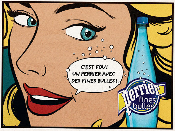 publicité pop art Perrier