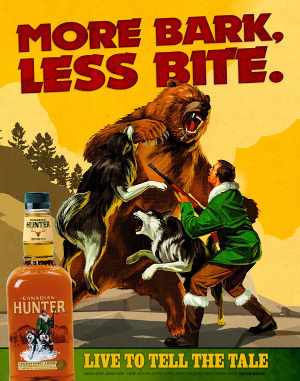 publicité retro Canadian hunter