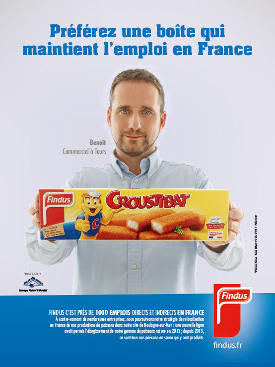 publicité findus Made in France