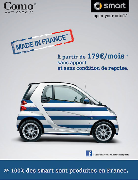 publicité Smart Made in France
