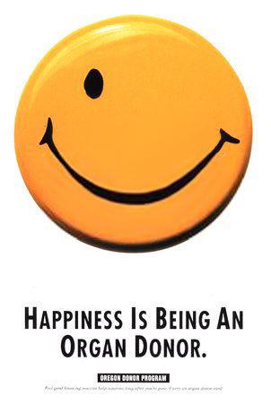 pub smiley Oregon Donor Program
