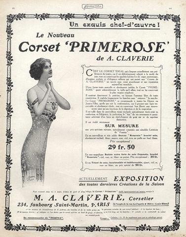 pub lingerie corset primerose