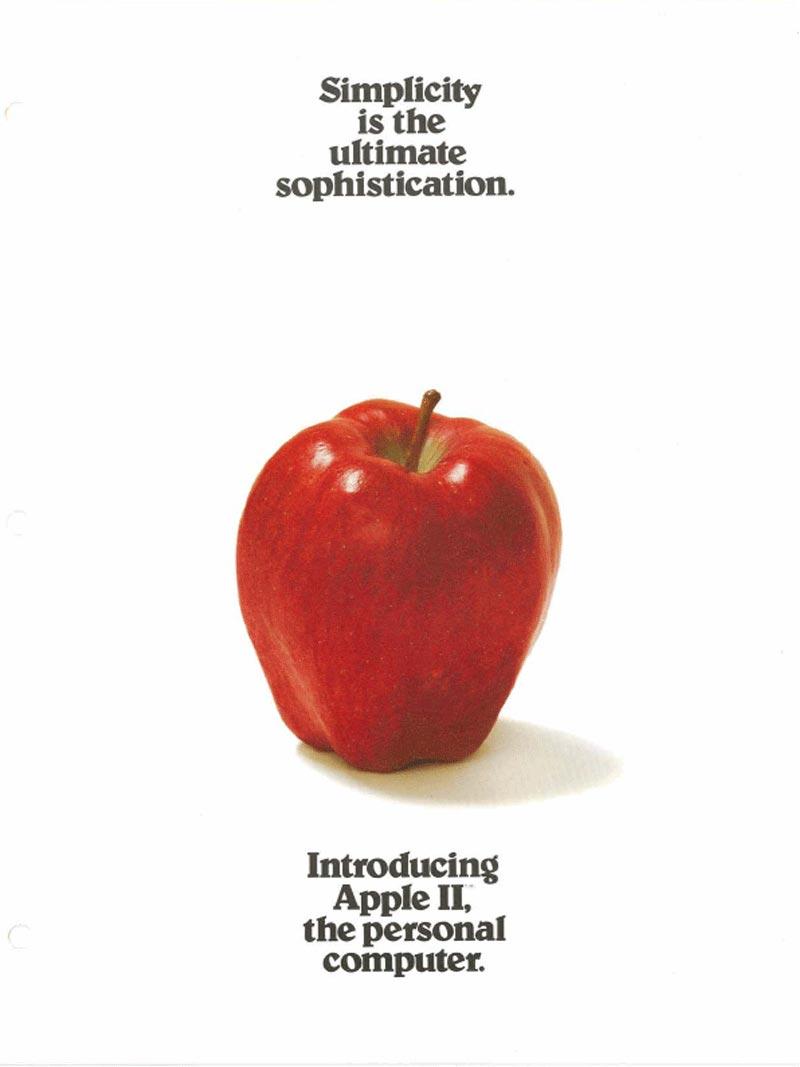 publicité Apple II simplicity