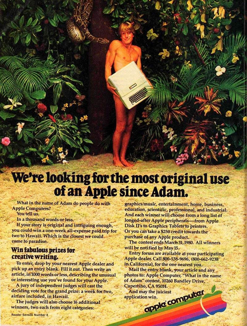 publicité Apple II Adam