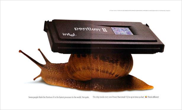 publicité Pentium II escargot