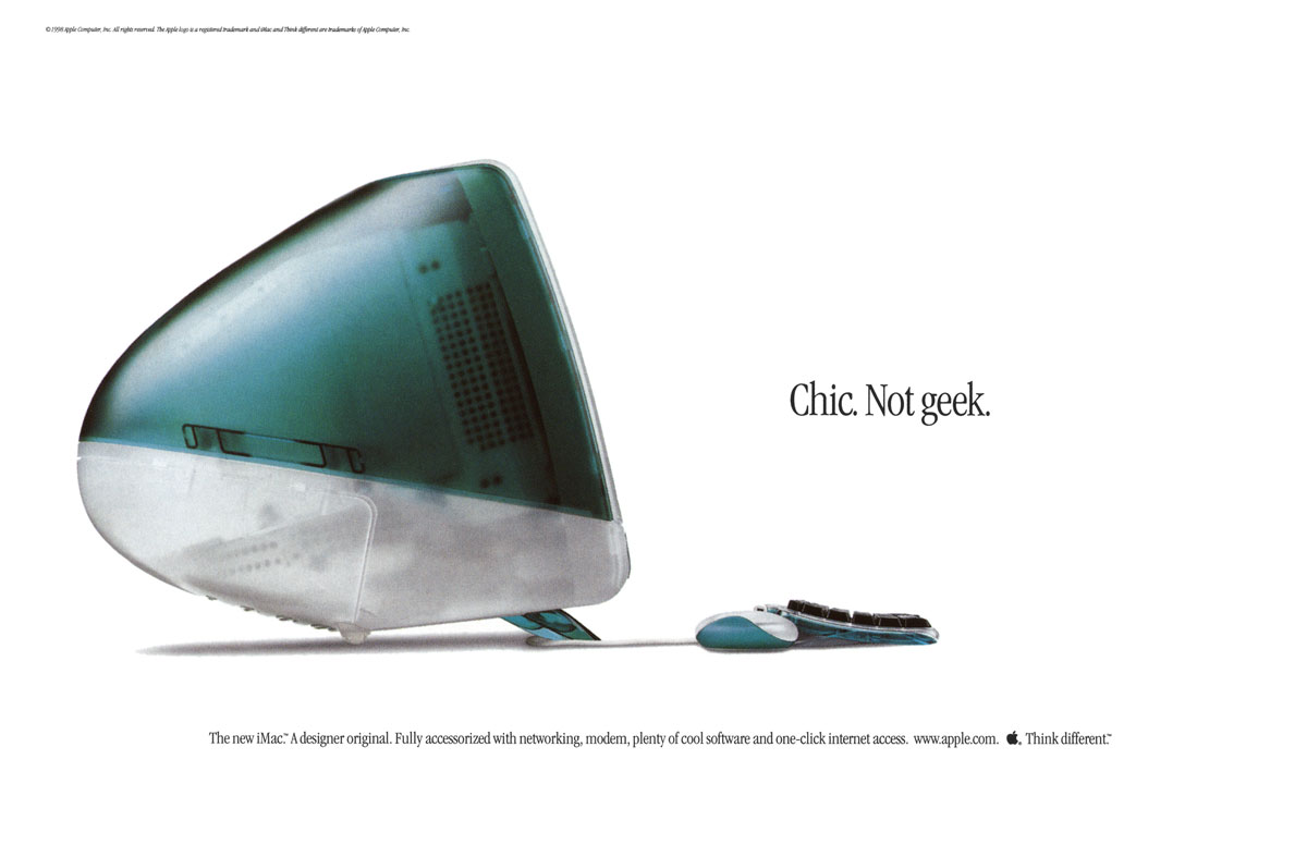 publicité Apple iMac chic not geek