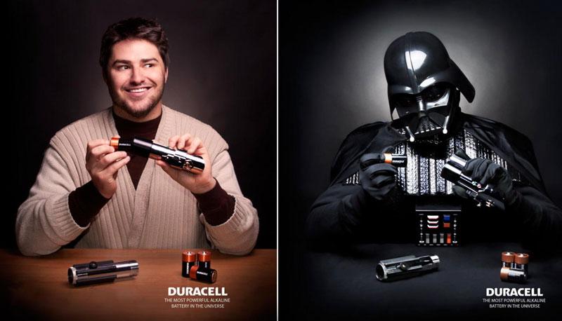 pub Dark Vador Duracell