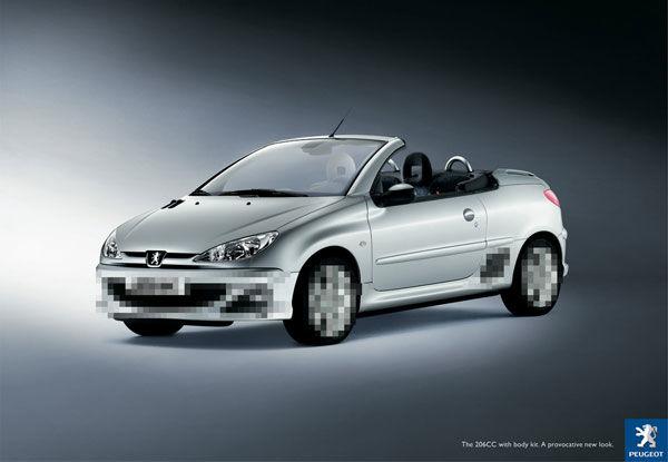 publicité pixels Peugeot
