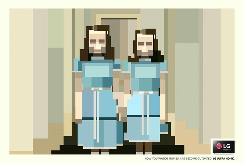 publicité pixels LG