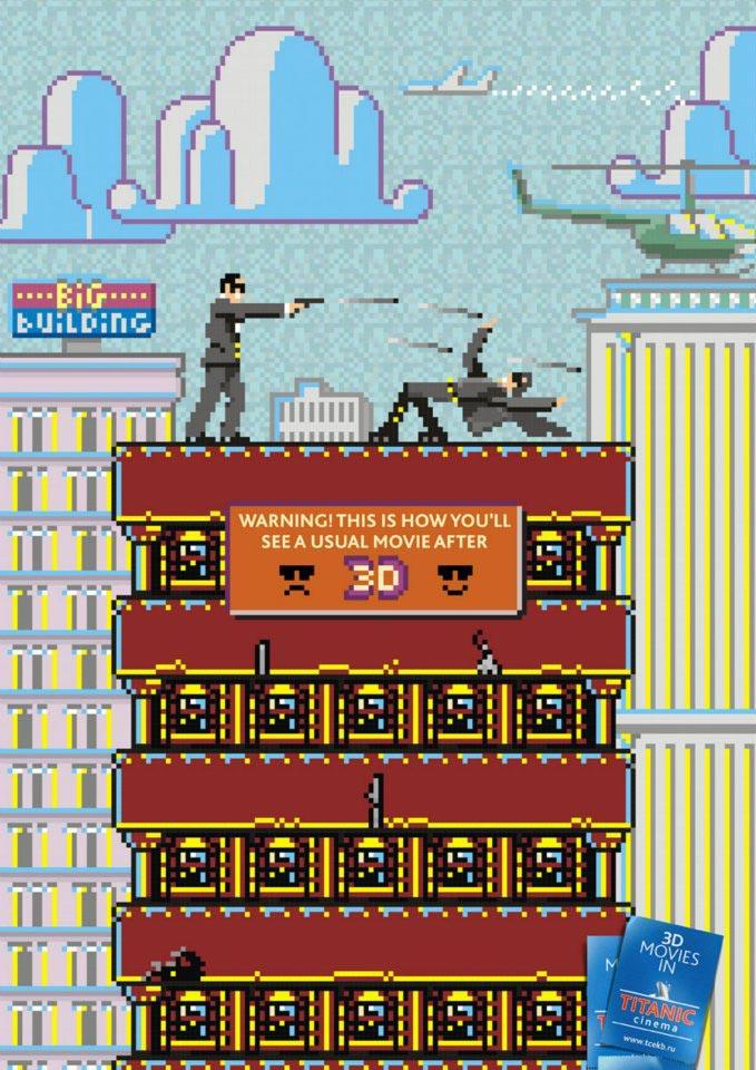publicité pixels Titanic Cinema