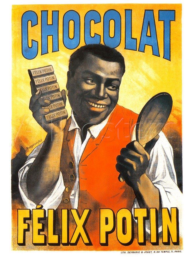 pub raciste chocolat Félix Potin
