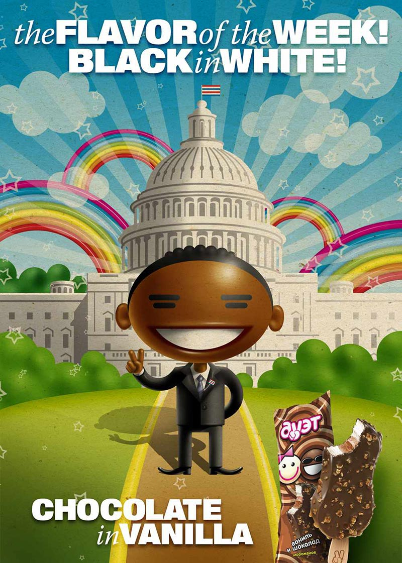 pub raciste Duet Ice Cream Obama