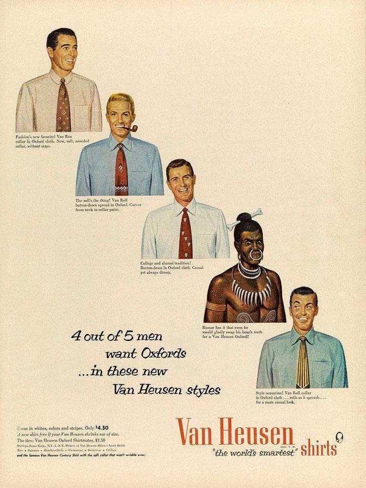 pub raciste vintage