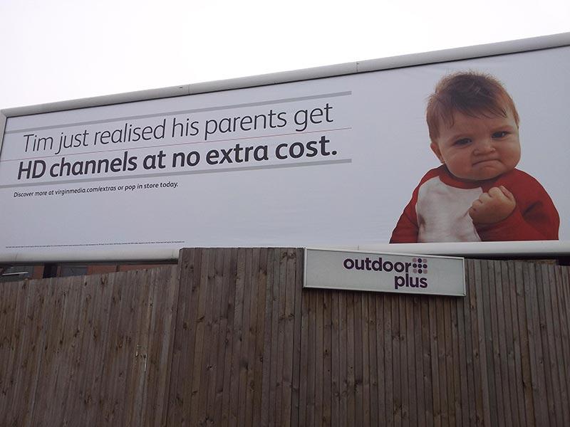 publicité mème Success kid