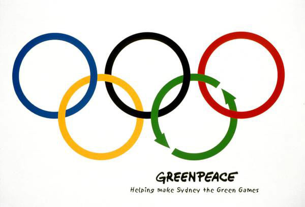 Publicité anneaux olympiques