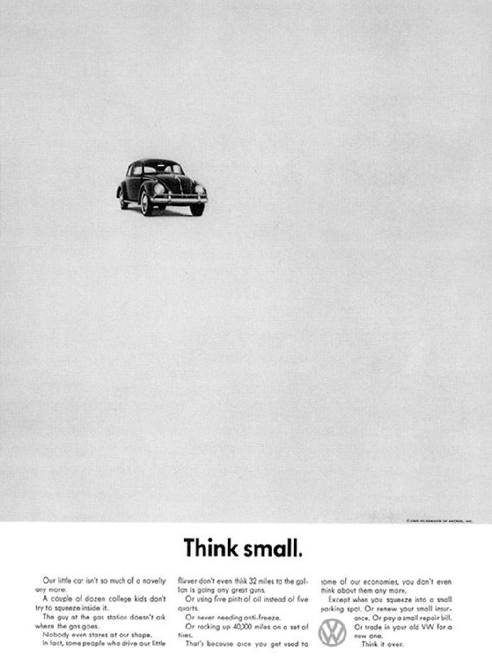 pub minimaliste Volkswagen