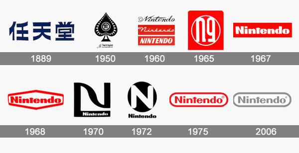 Evolution du logo Nintendo