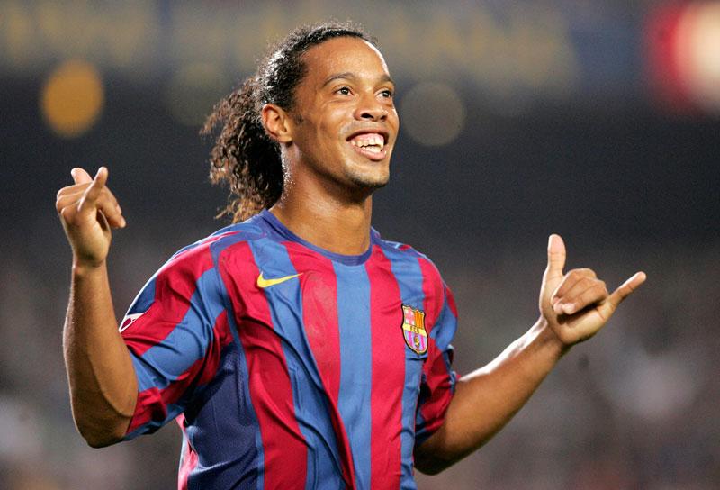 Célébration Ronaldinho