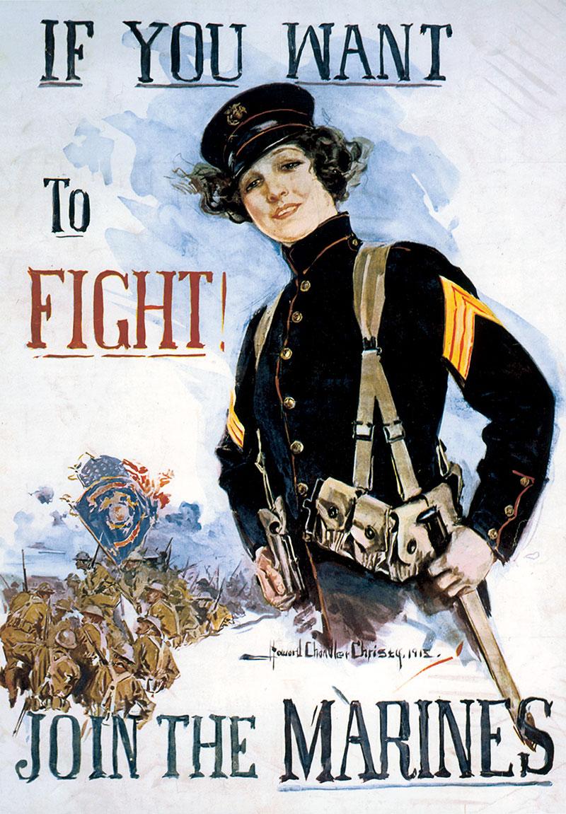 publicité féministe US Marines
