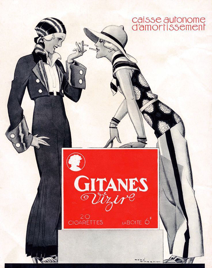 publicité féministe Cigarettes Gitanes