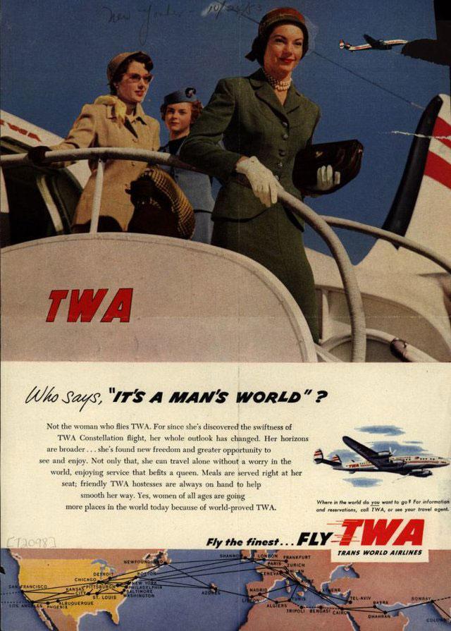 publicité féministe TWA